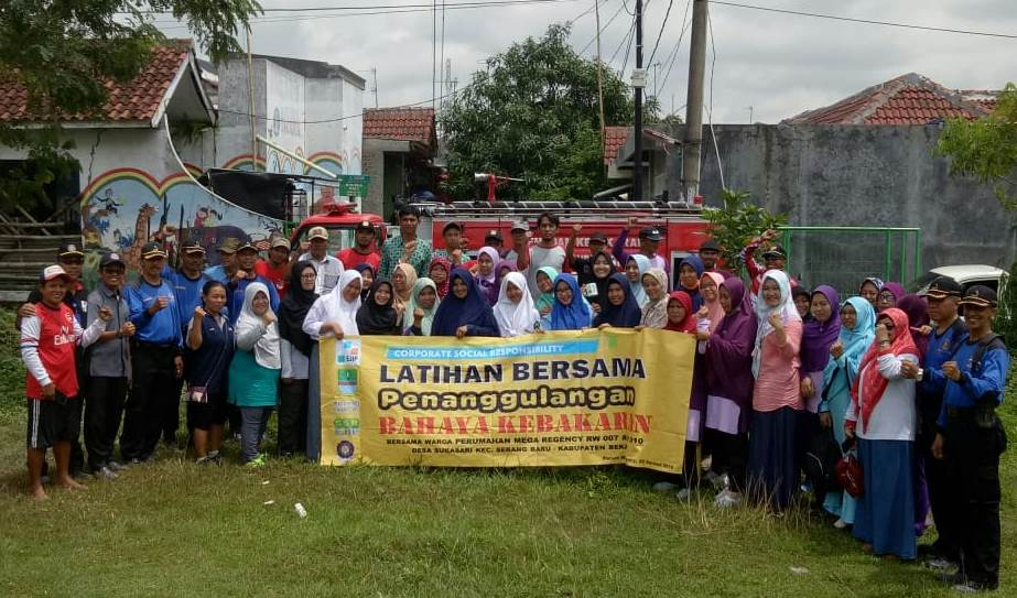 PT. EJIP CONDUCTS FIRE SAFETY AWARENESS FOR MEGA REGENCY'S RESIDENTS
