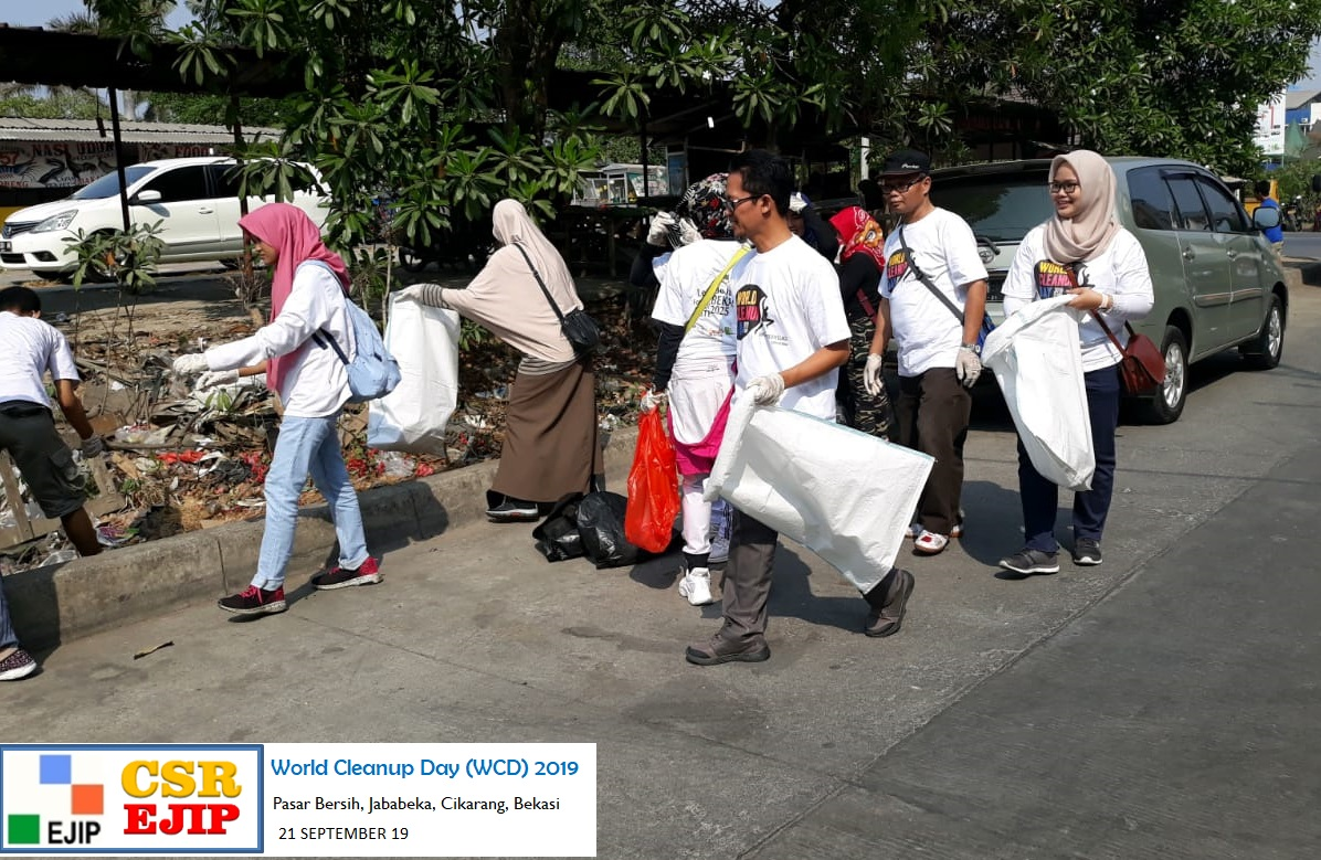 PT. EJIP Participate in the Clean Up Action at World Cleanup Day (WCD) 2019