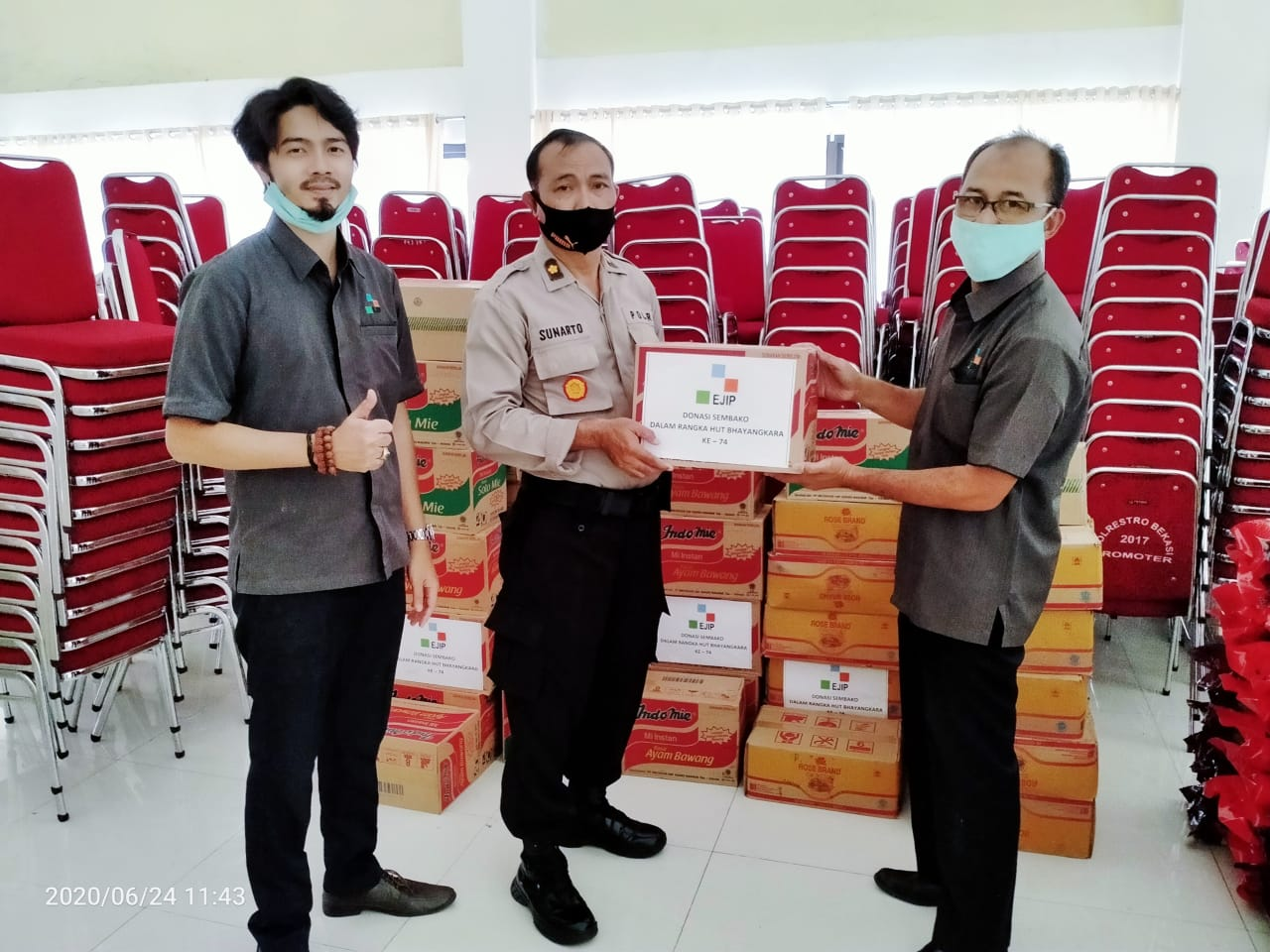 EJIP Support Bekasi Police to handling Covid-19