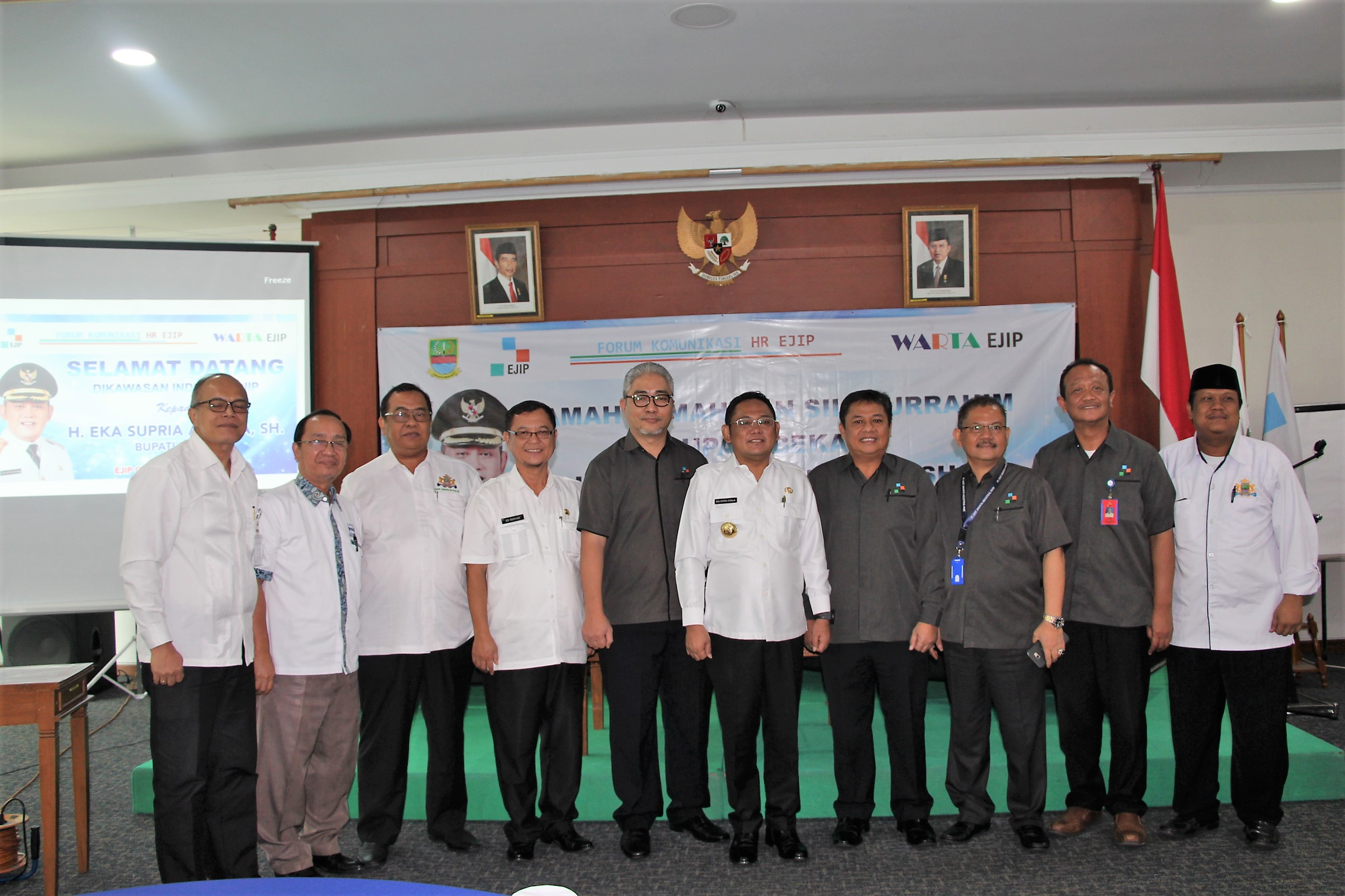 REGENT OF BEKASI VISIT TO EJIP : SOCIALIZATION THE REGULATION OF REGENT