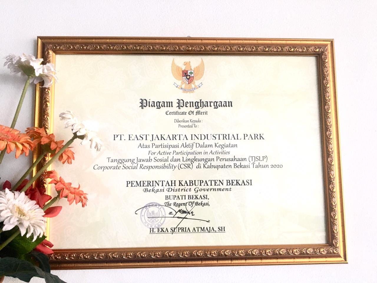 EJIP Receives CSR Award in Bekasi Regency 2020