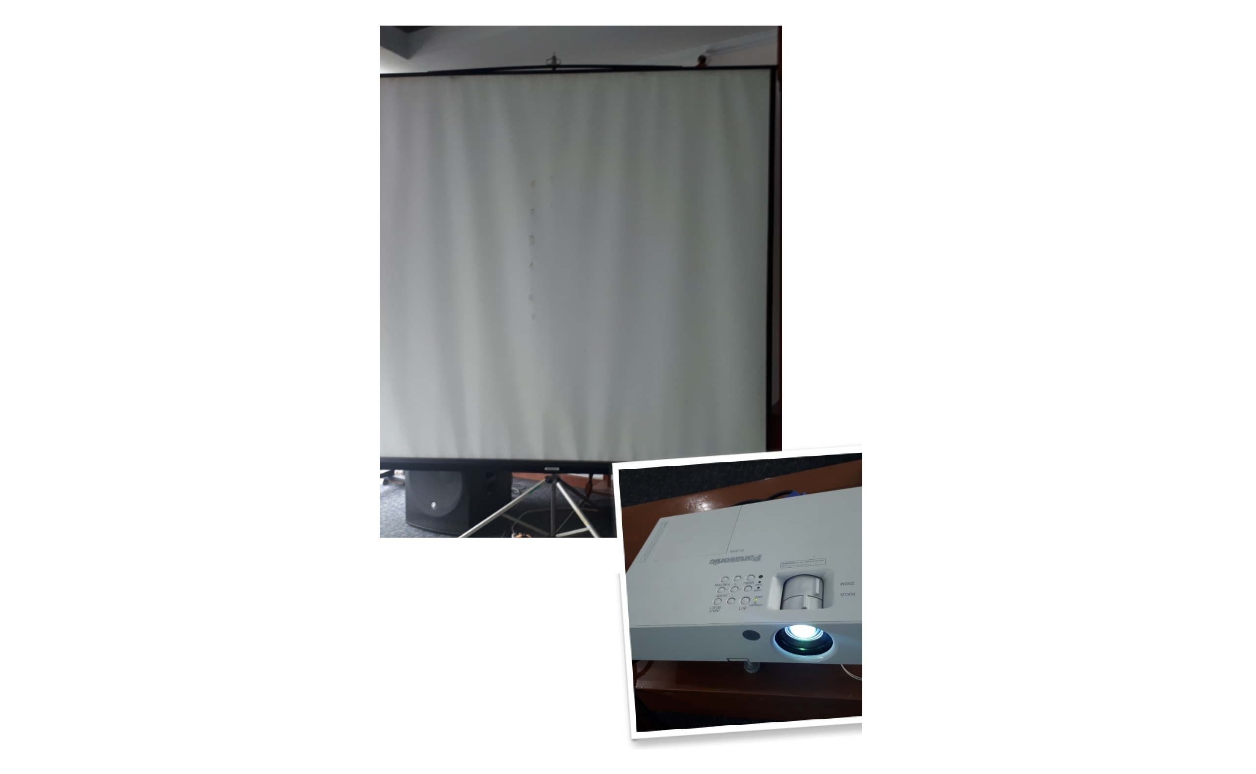 LCD Projector and screen